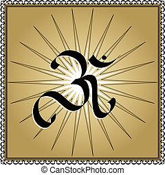 OM symbol on star