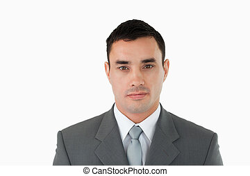 Businessman looking serious