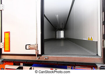 Lory trailer - Long lorry vehicle for cooling and freezing