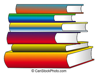 The Pile of the color books