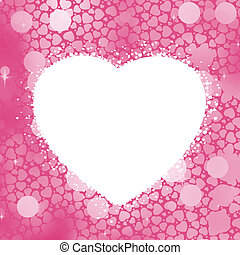 Pastel Heart bokeh frame with copy space. EPS 8