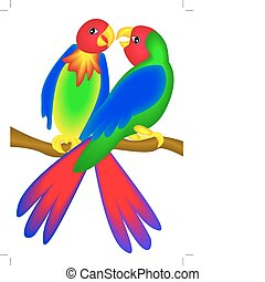 bright parrot insulated - illustration bright parrot...