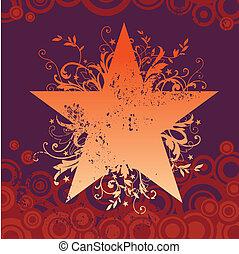 Vector grunge star