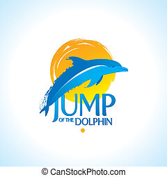 Vector illustration - dolphin jamp out of the water