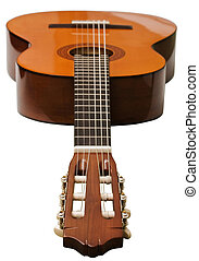 acoustic guitar - classical acoustic guitar isolated on...