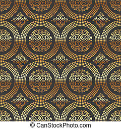 Vector seamless background -  ornamental decorative golden pattern