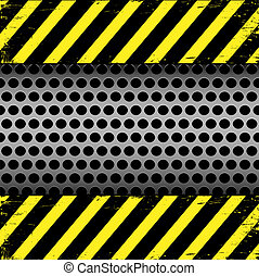 Metal grill and grunge background. Abstract vector