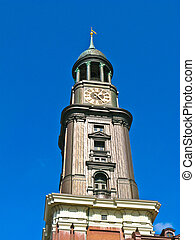 St. Michaelis church (known has Michel) in Hamburg, Germany.