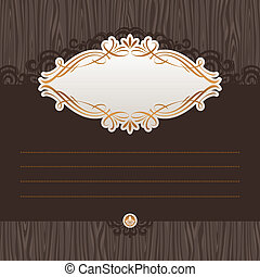 Vector menu with ornate frame