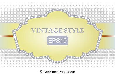 Template vintage frame