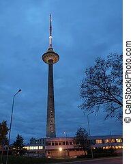 TV tower lights