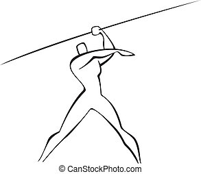 javelin thrower - thrower