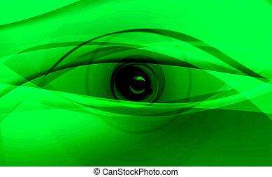 digital green eyes