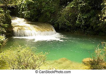 El Nicho waterfall, in Scambray mountains. Cienfuegos...
