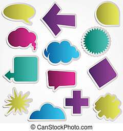 speech bubbles vector set various