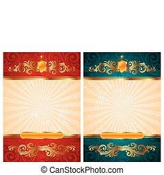 Vintage vector gold frames