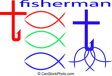 Fish - Christian fish icon in vector illustration