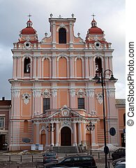 Saint Casimir church - Lithuanian churchs Vilnius - old city...