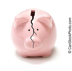 Cracking piggybank
