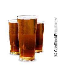 Pints on a white background