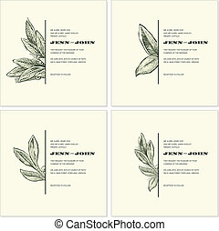 Vector Vintage Ornament and Frame Set. Easy to edit. Perfect...