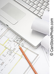Architecture blueprints - Architect workplace - architecture...