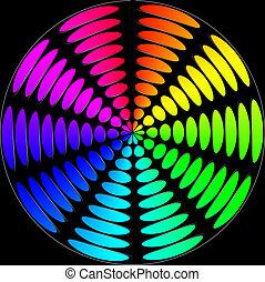 spectral,  Color, círculos