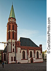 Nikolaikirche at the R?merberg in Frankfurt