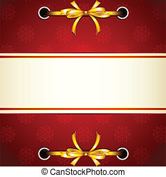 Ribbon tied in Christmas Wallpaper - illustration of ribbon...