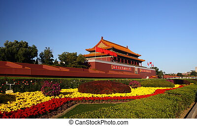 Tiananmen Square under the sunshine