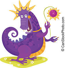 dragon - vector illustration of a cute dragon