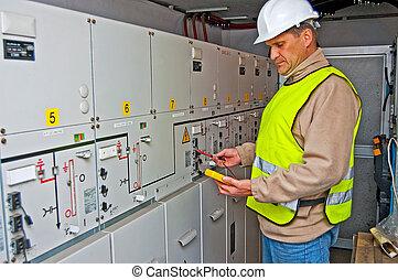 electricista, conmutación, potencia