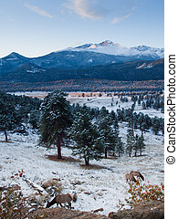 Rocky Mountain National Park - Sunrise over Rocky Mountain...