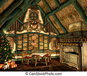 Xmas Cottage - in a small hut on Christmas Eve