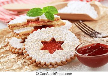 Jam shortbread cookies