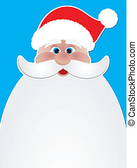 Christmas background of Santa Claus - Christmas background...