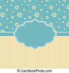 Retro Christmas Background - Retro styled Christmas...