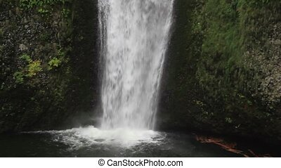 Multnomah Falls on Columbia Gorge - Multnomah Falls along...