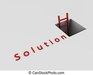 Way out to solution - 3d rendering, Conceptual image,...