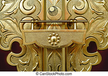 Temple gate in Japan. - Pattern on the temple gate in Japan.