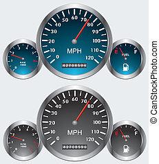 car dashboards - vector car dashboards