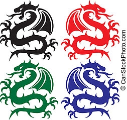design of dragons - vector design of dragons