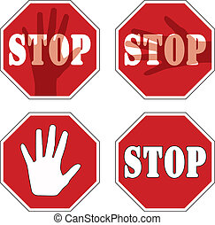 stop signs - vector stop signs