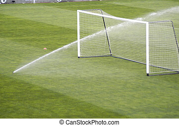 irrigação, futebol, Pulverizador, estádio