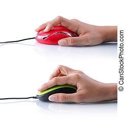 電腦, 老鼠, 按一下