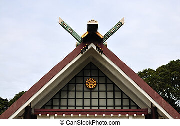 roof - The roof on the temple in Japan