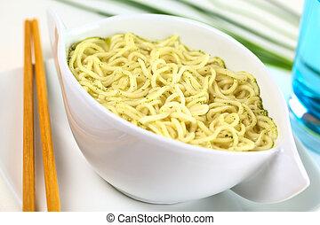 Vegetarian Asian noodle soup