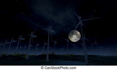 1277 Wind Turbine Electric Energy - 1276 Wind Turbine...
