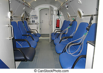 hyperbaric chamber view from inside