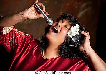 Negro spiritual singer - Negro spiritual gospel singer...